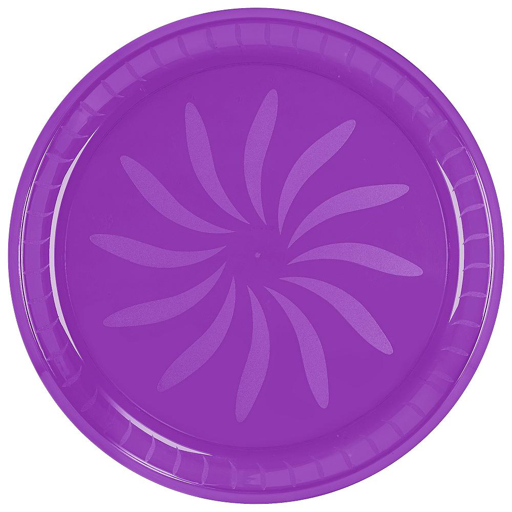 Purple Plastic Round Platter Image #2