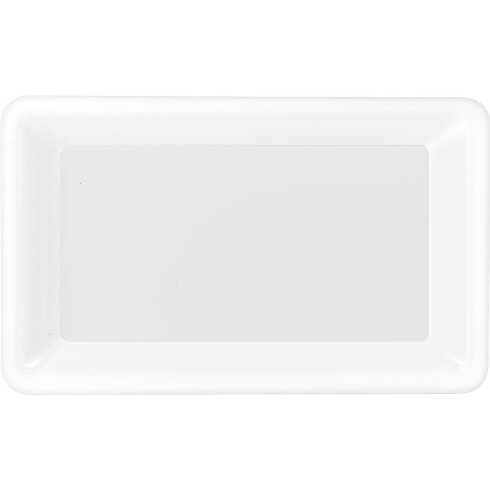 White Plastic Rectangular Platter Image #1