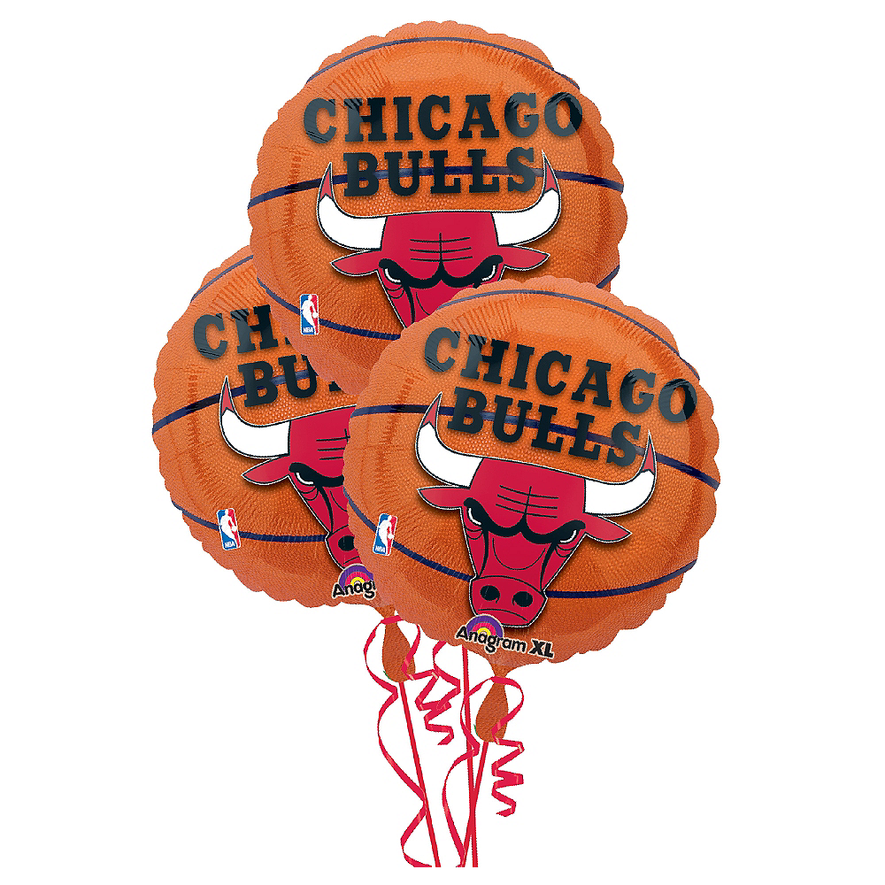 Chicago Bulls Balloons 3ct - Basketball Image #1
