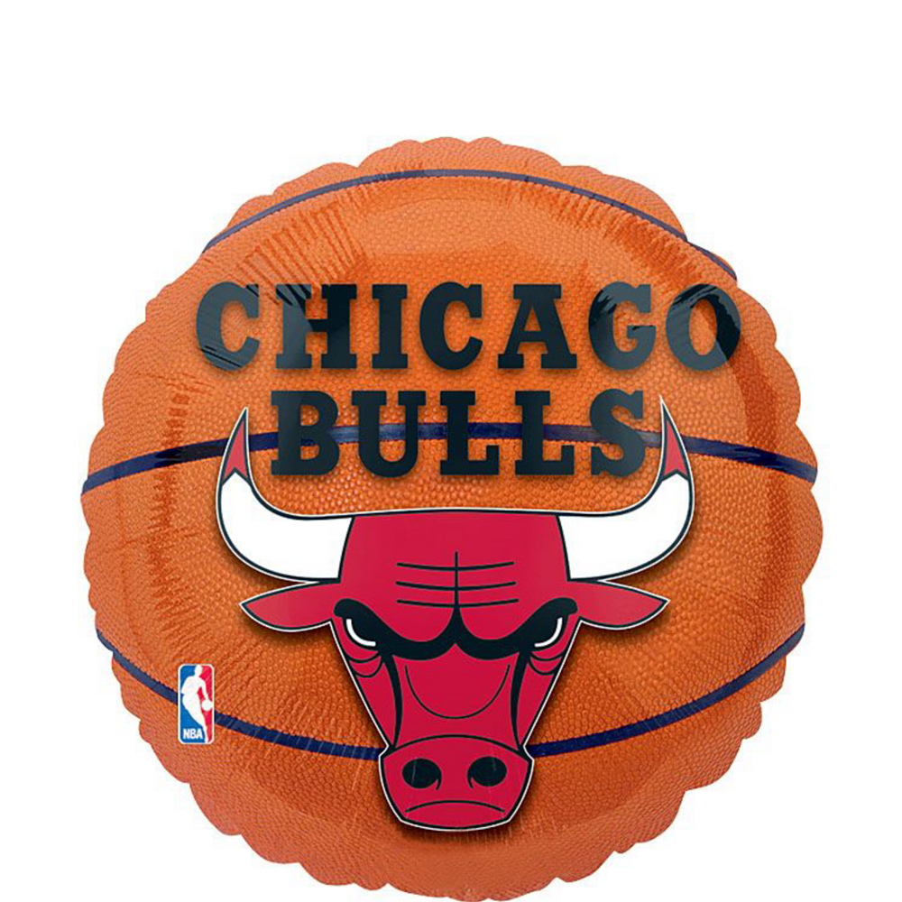 Chicago Bulls Balloons 3ct - Basketball Image #2