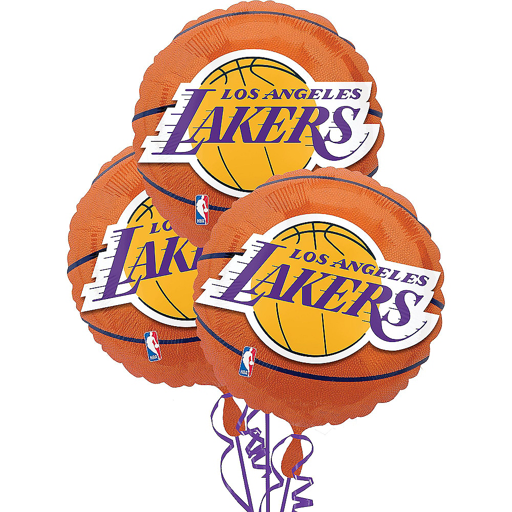 Los Angeles Lakers Balloons 3ct - Basketball Image #1