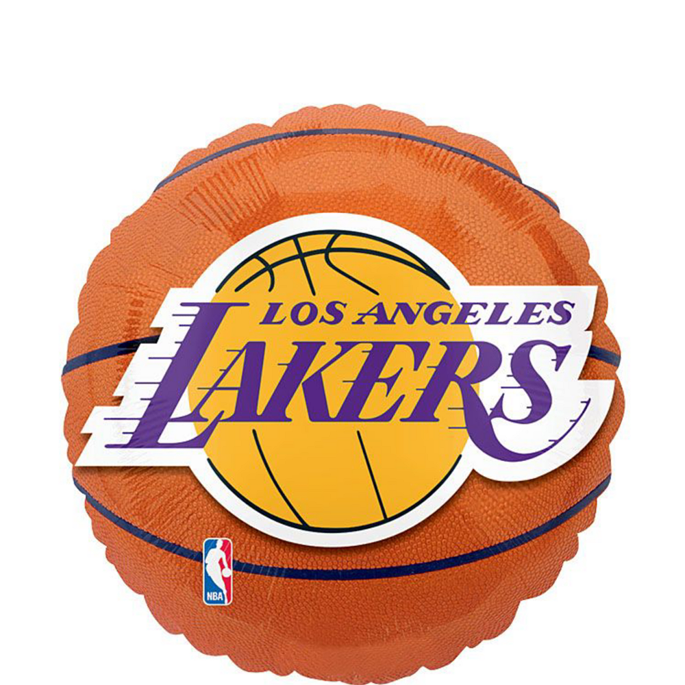 Los Angeles Lakers Balloons 3ct - Basketball Image #2