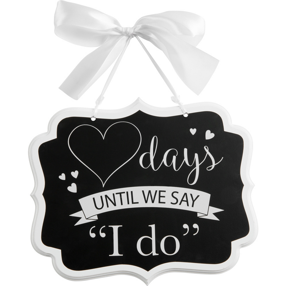 Wedding Countdown Chalkboard Sign Image #1