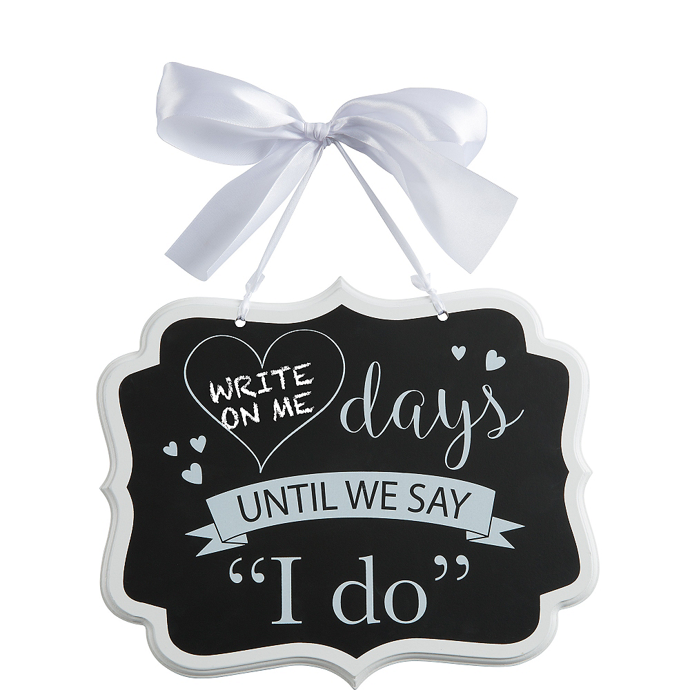 Wedding Countdown Chalkboard Sign Image #2