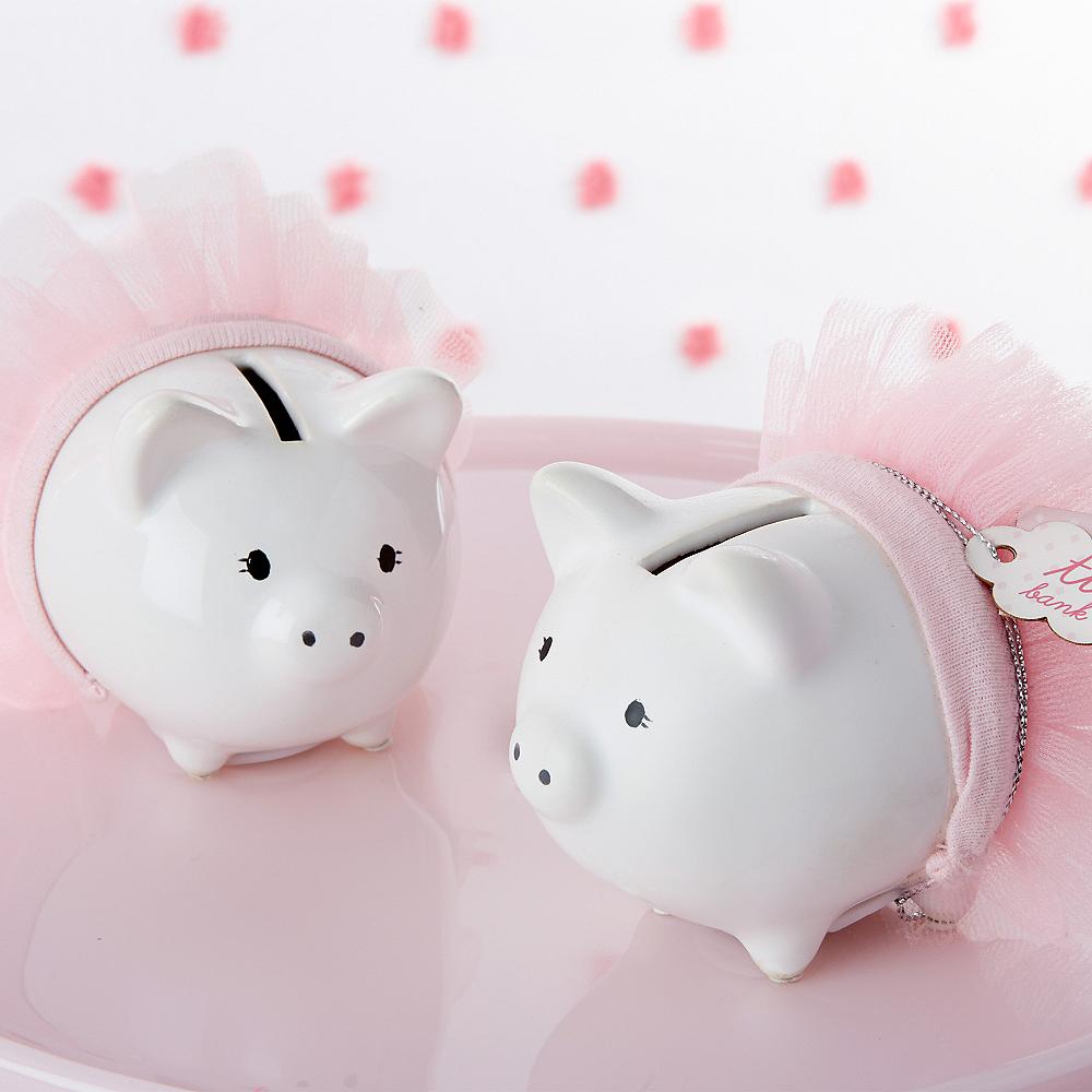 Pink Tutu Piggy Bank Image #1