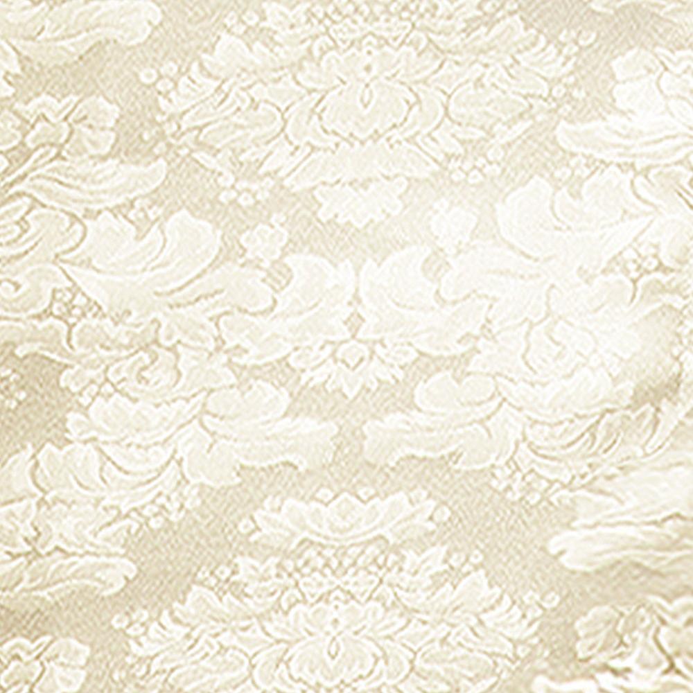 Vanilla Cream Damask Fabric Tablecloth Image #2