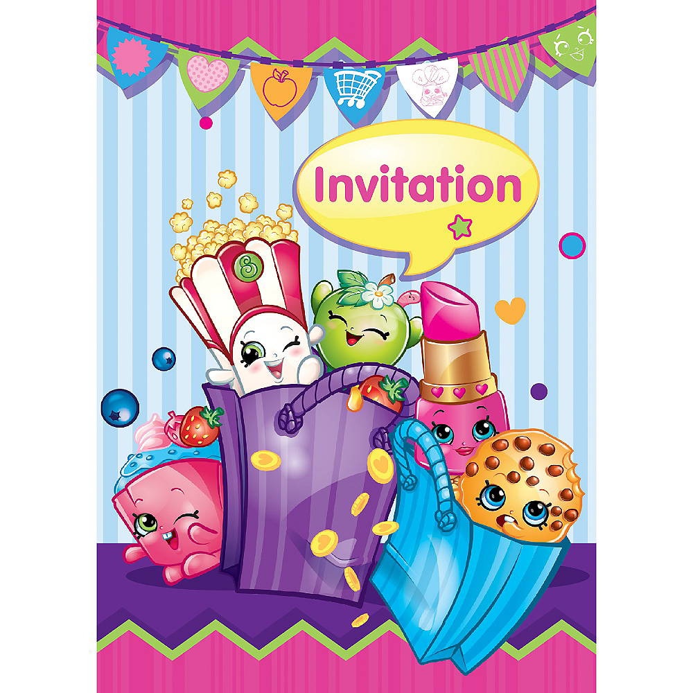 Shopkins Invitations 8ct Image 1