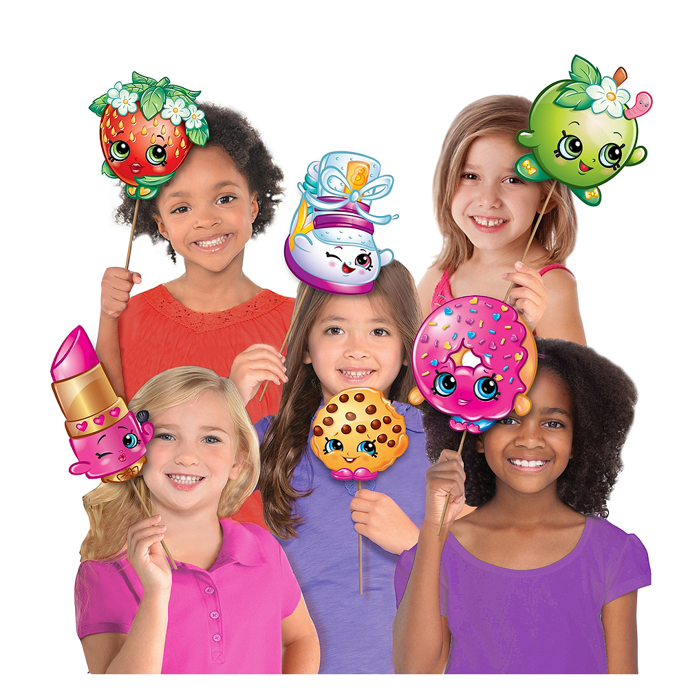 Shopkins Photo Booth Props 8ct Image #1