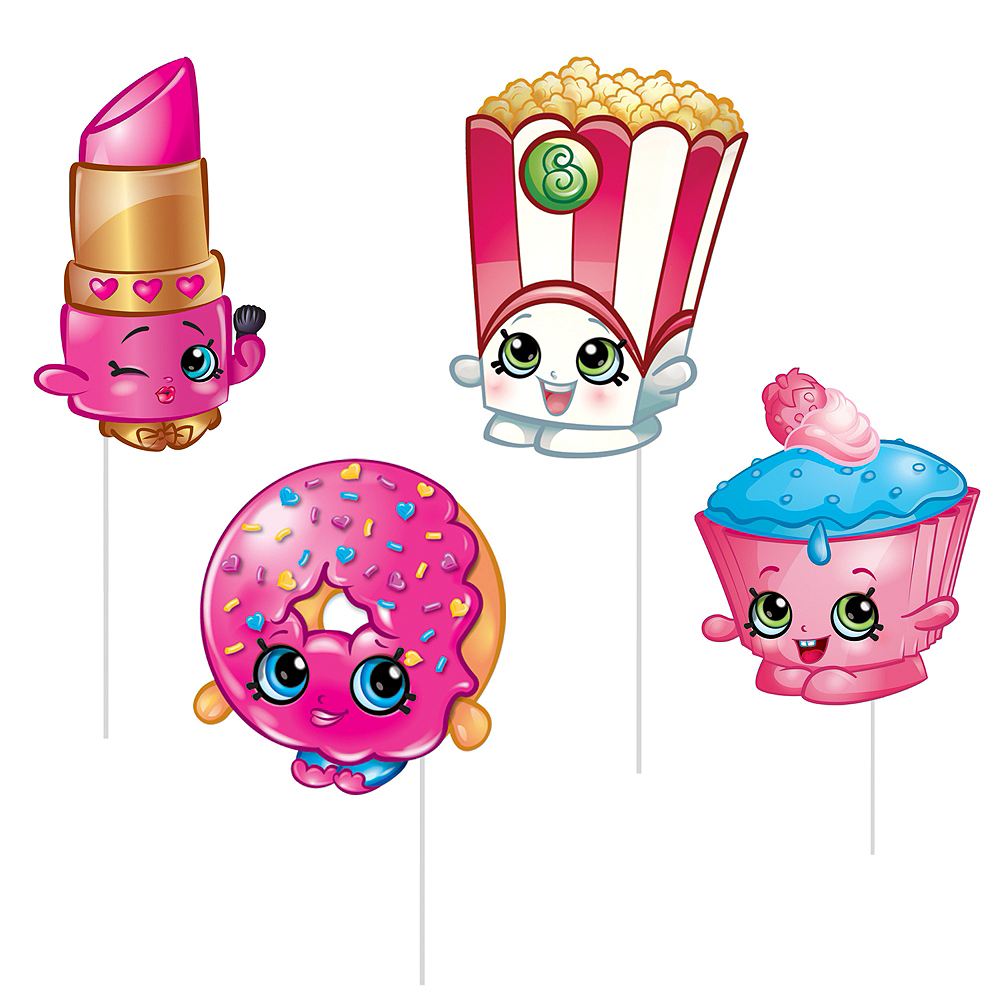 Shopkins Photo Booth Props 8ct Image #3