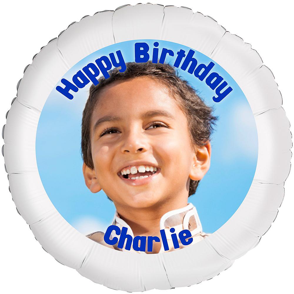 Custom Boy Birthday Photo Balloon Image #1