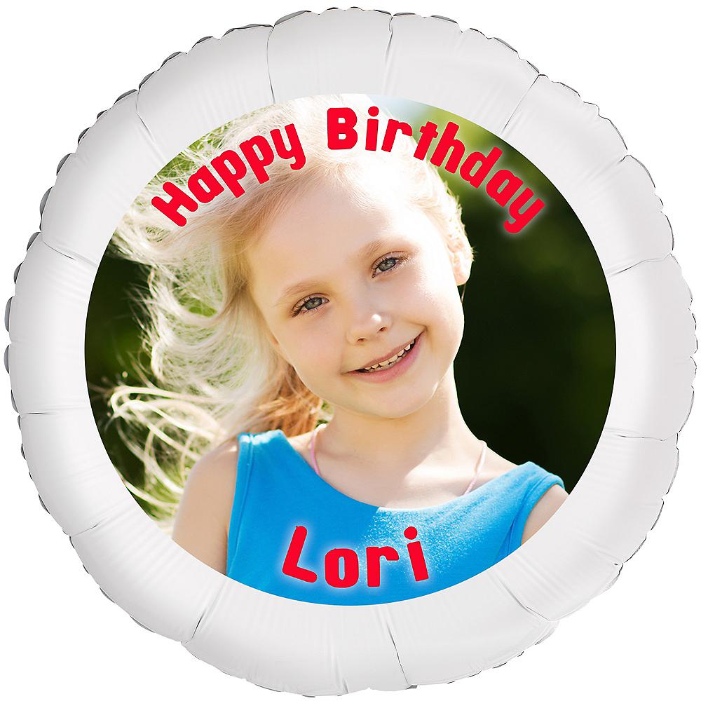 Custom Girl Birthday Photo Balloon Image #1