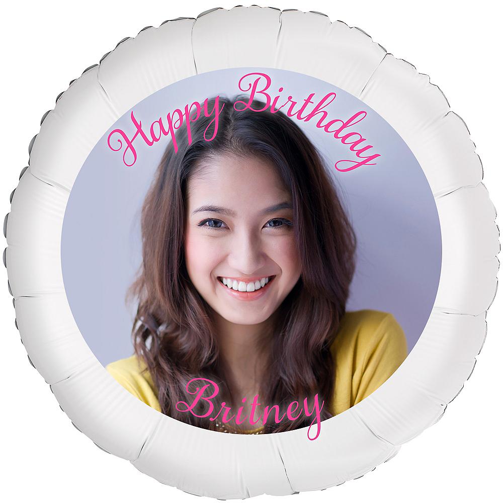 Custom Birthday Photo Balloon Image #1