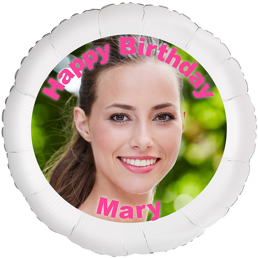 Custom Birthday Photo Balloon Image #1