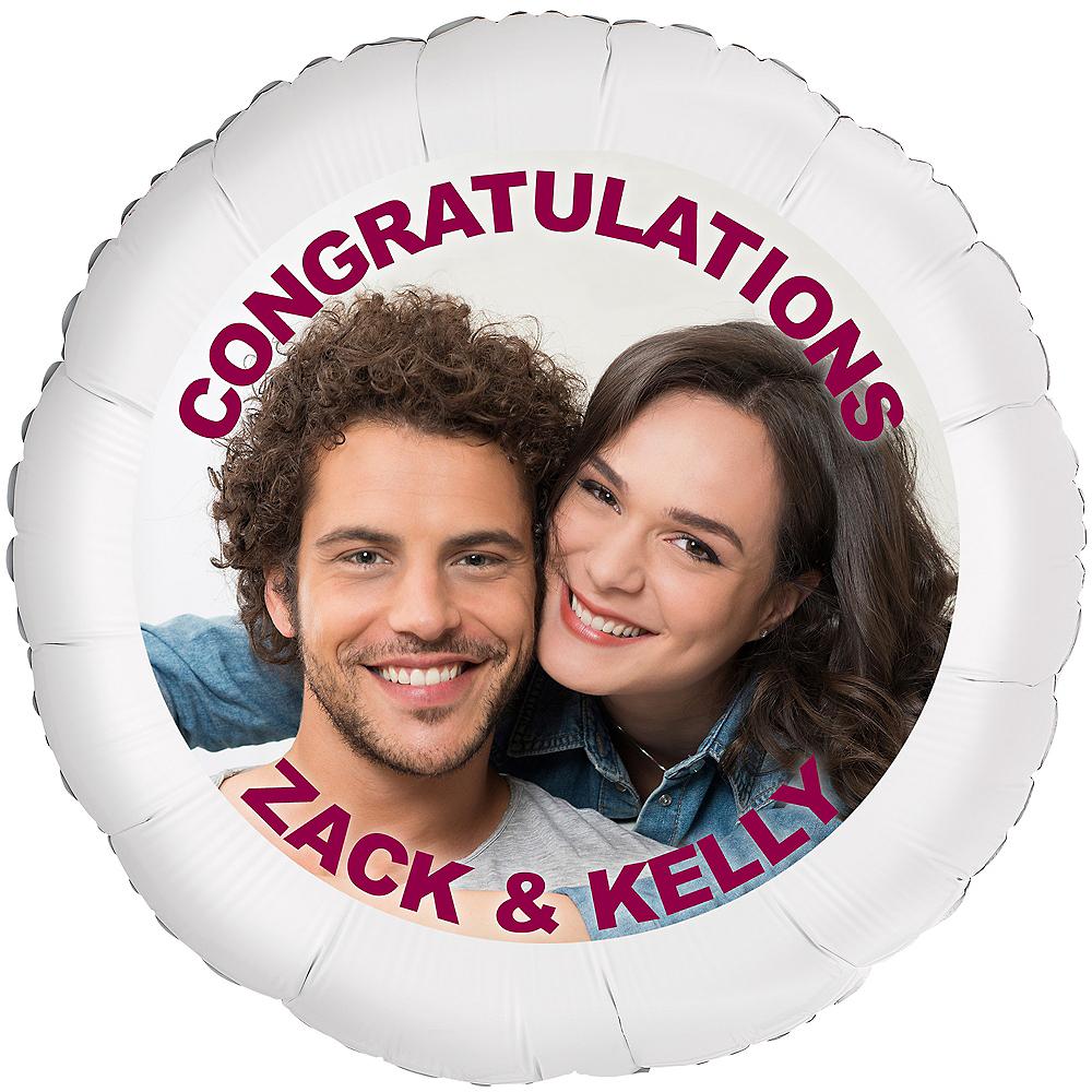 Custom Engagement Photo Balloon Image #1