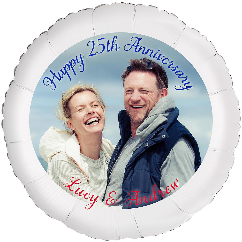 Custom 25th Anniversary Photo Balloon Image #1