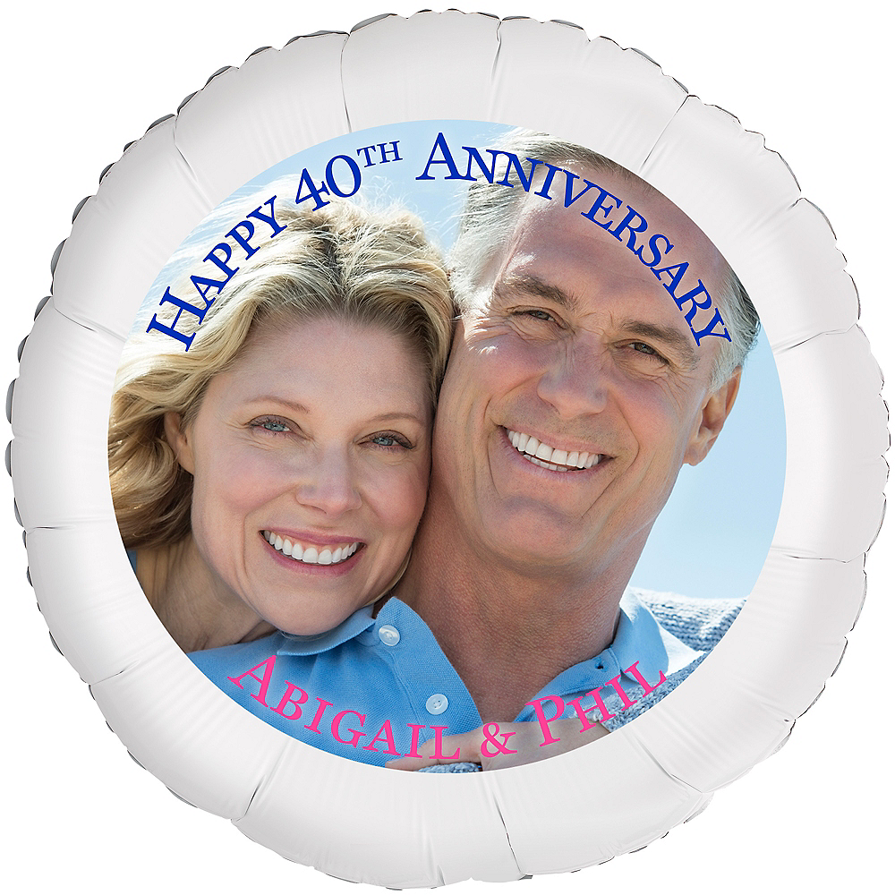 Custom 40th Anniversary Photo Balloon Image #1
