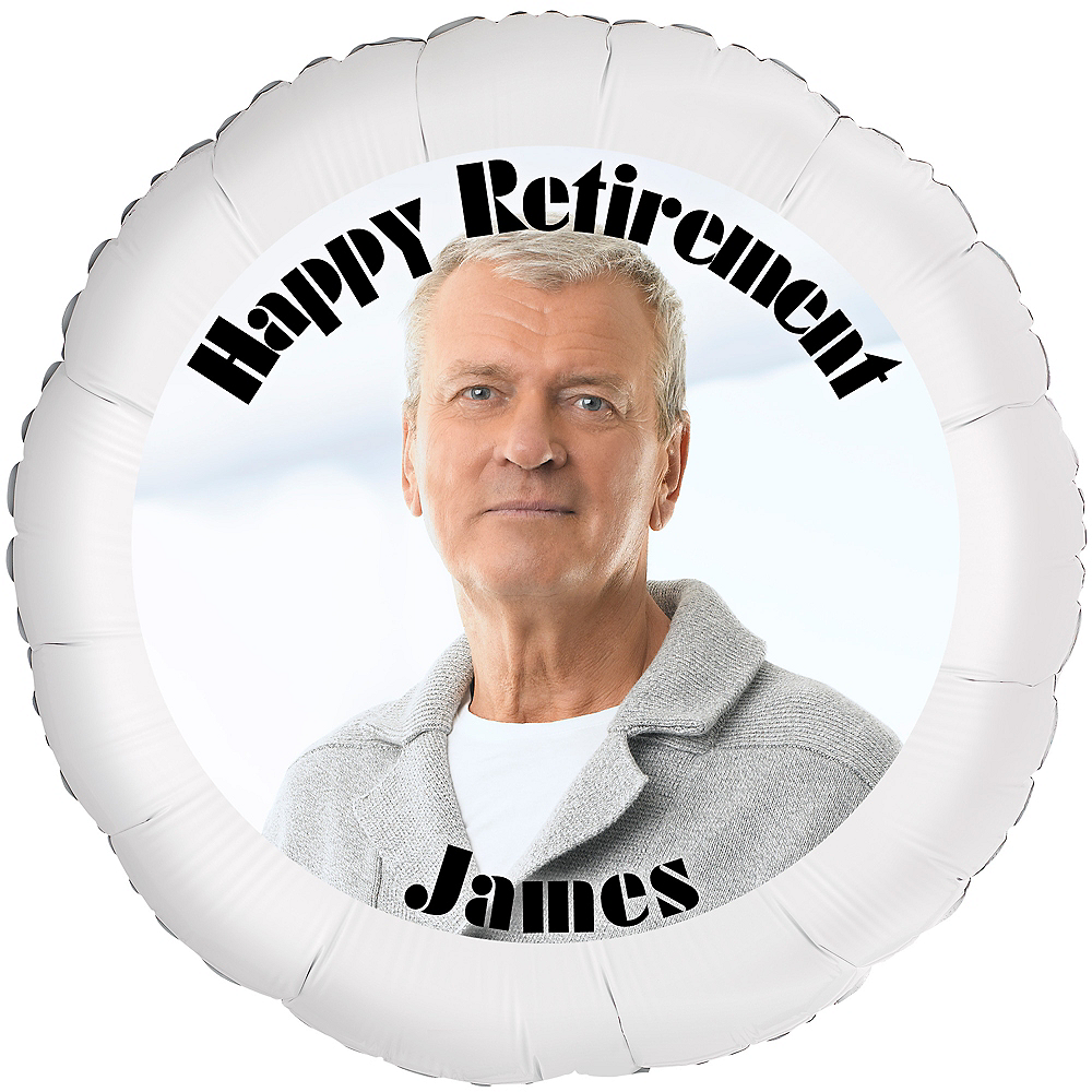 Custom Retirement Photo Balloon Image #1