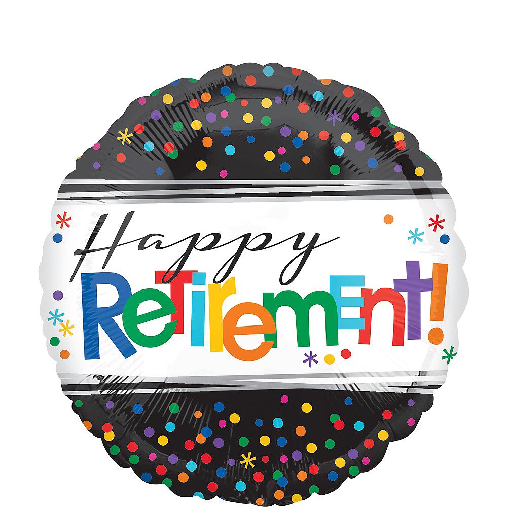 Happy Retirement Celebration Balloon 17in Image #1
