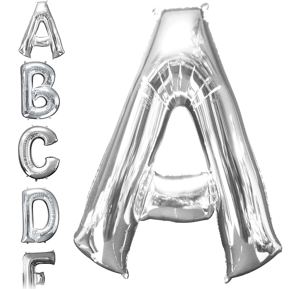 34in Silver Letter Balloon (A) Image #1