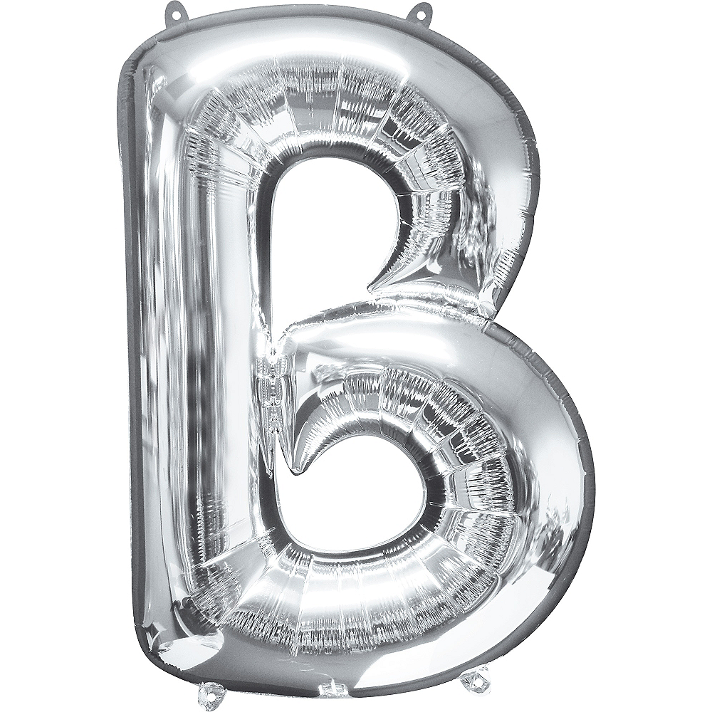 34in Silver Letter Balloon (B) Image #1