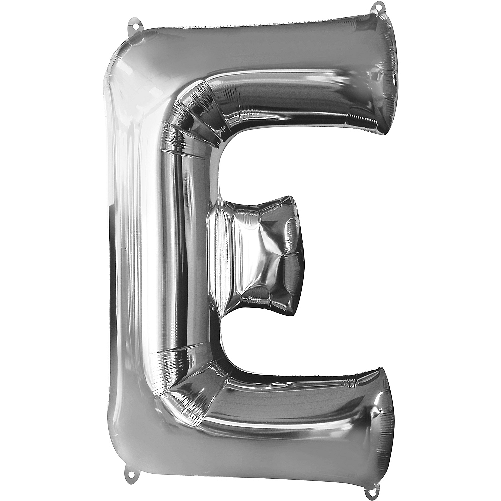 34in Silver Letter Balloon (E) Image #1