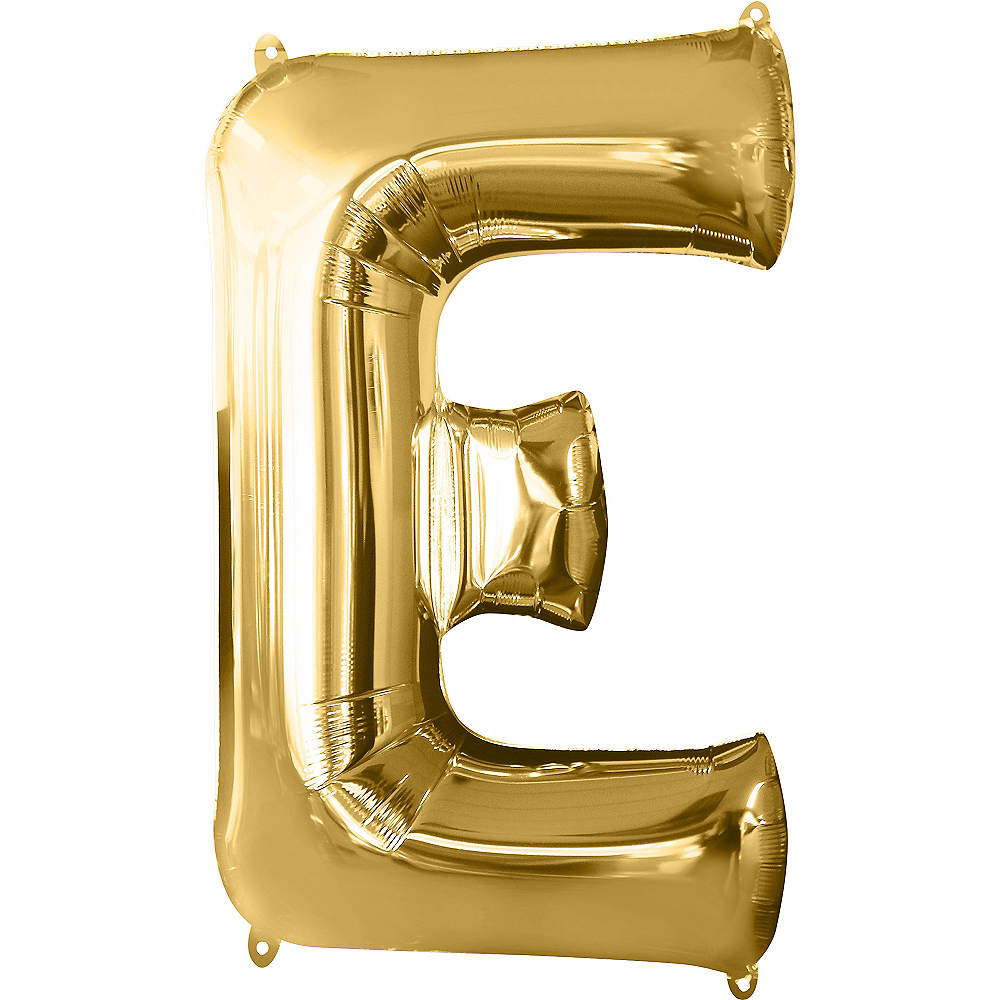 Nav Item for 34in Gold Letter Balloon (E) Image #1