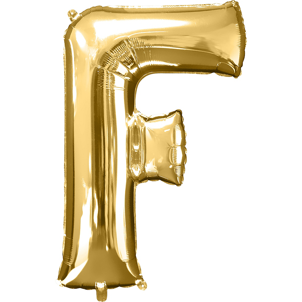 34in Gold Letter Balloon (F) Image #1