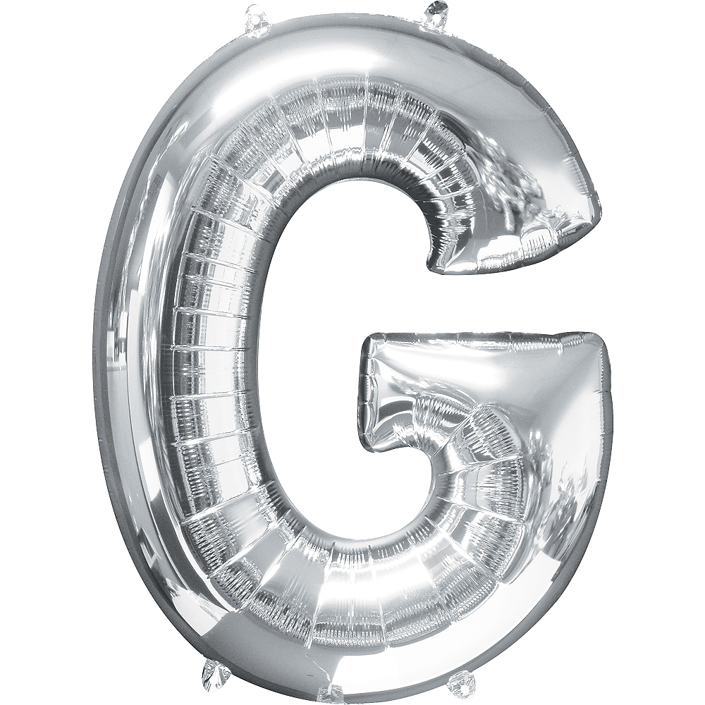 34in Silver Letter Balloon (G) Image #1