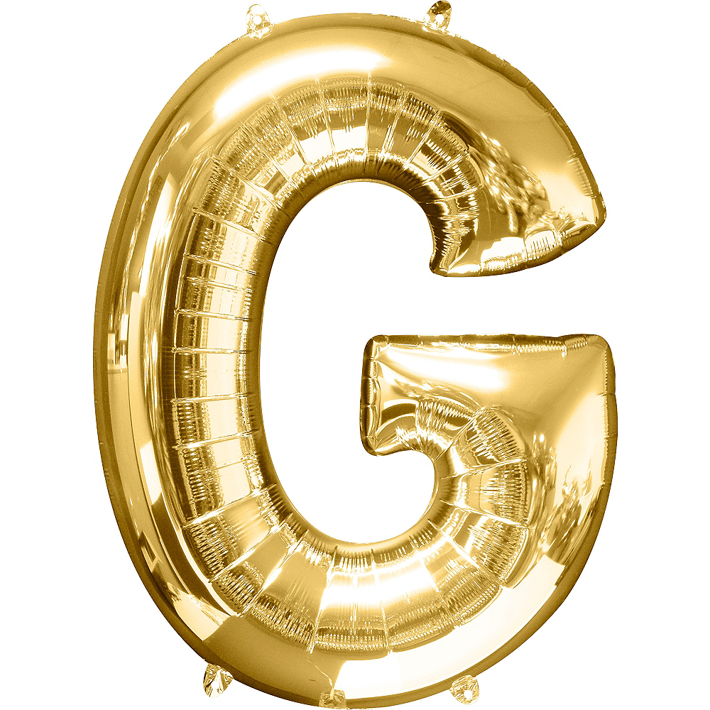 34in Gold Letter Balloon (G) Image #1