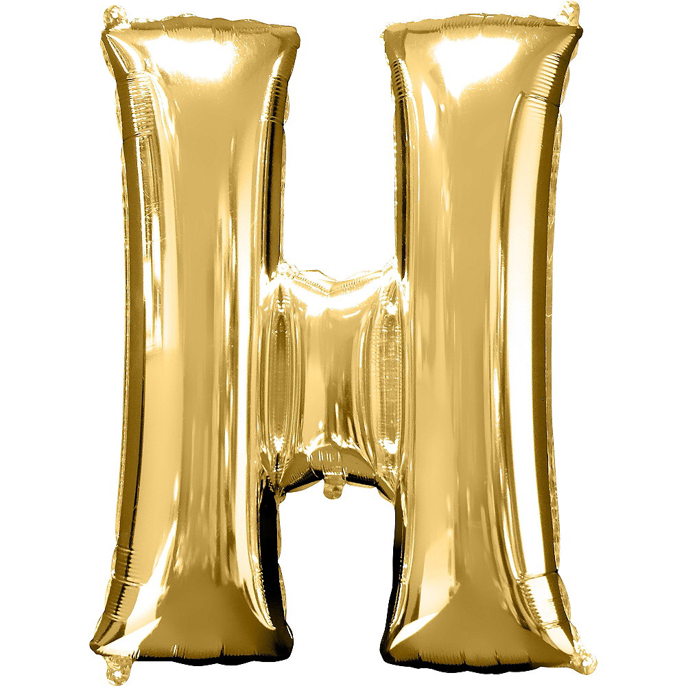 34in Gold Letter Balloon (H) Image #1