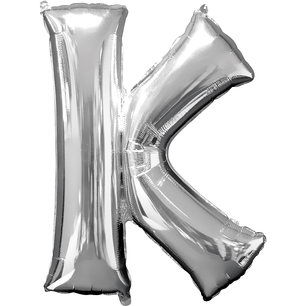 34in Silver Letter Balloon (K) Image #1