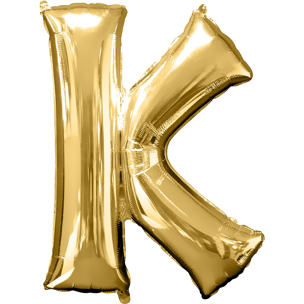 34in Gold Letter Balloon (K) Image #1