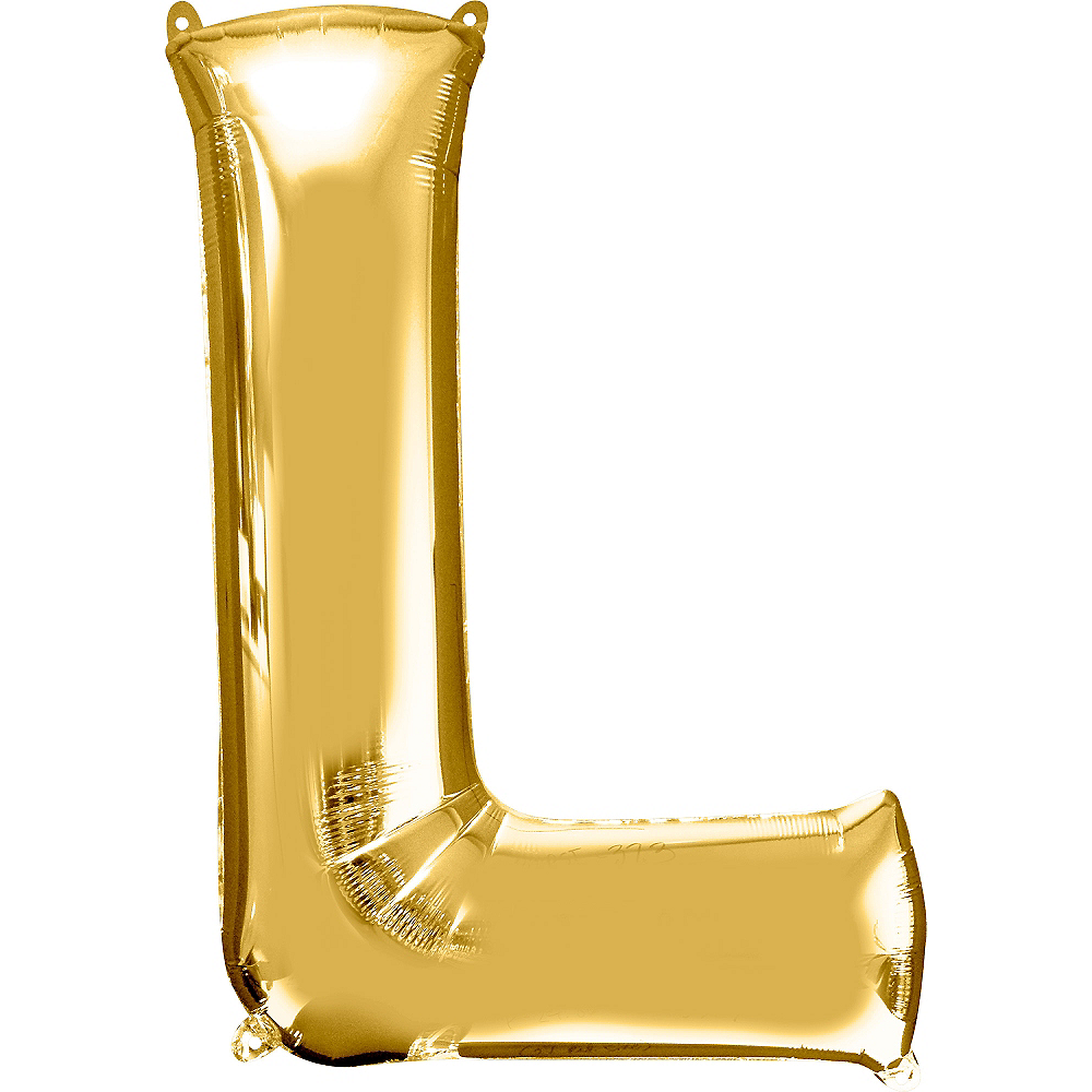 34in Gold Letter Balloon (L) Image #1