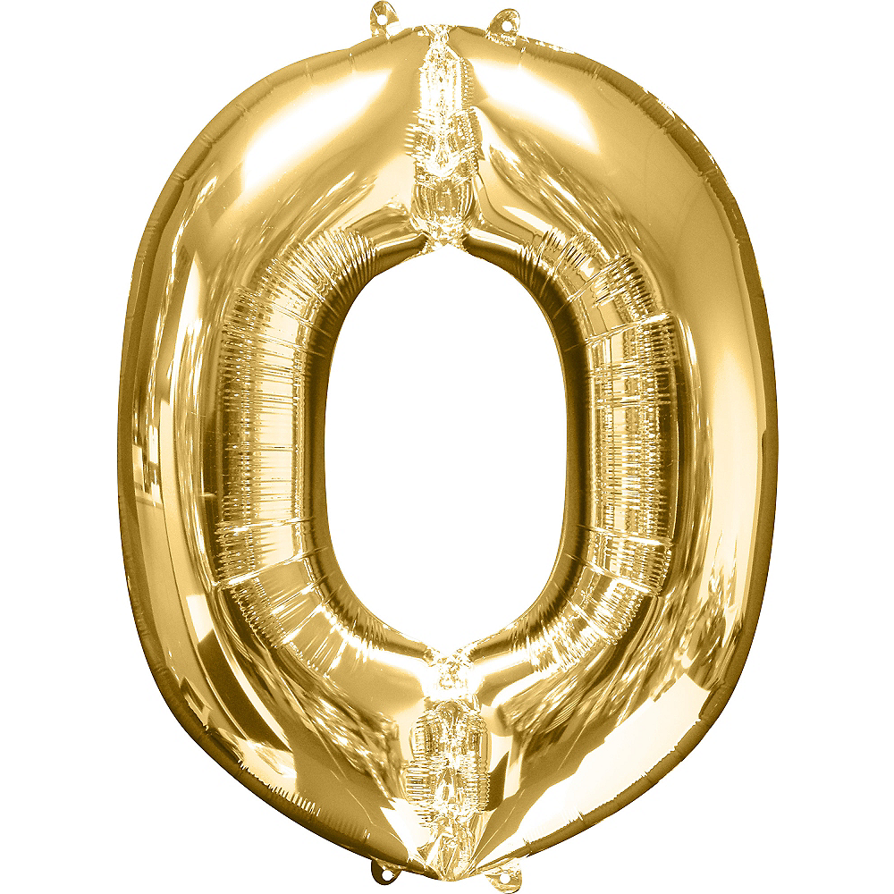 34in Gold Letter Balloon (O) Image #1