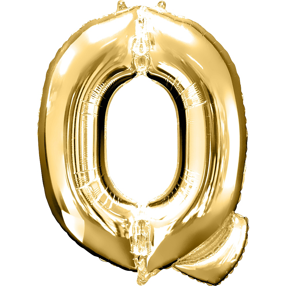 34in Gold Letter Balloon (Q) Image #1