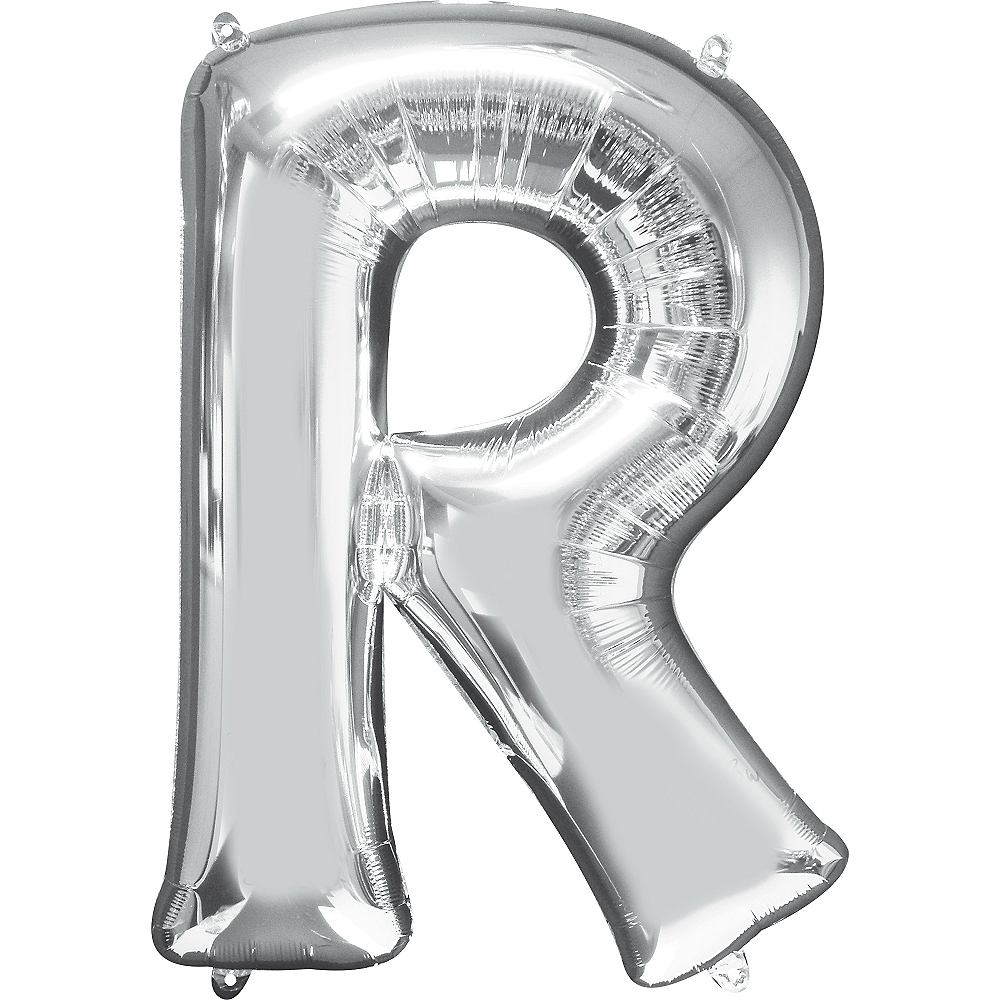 34in Silver Letter Balloon (R) Image #1