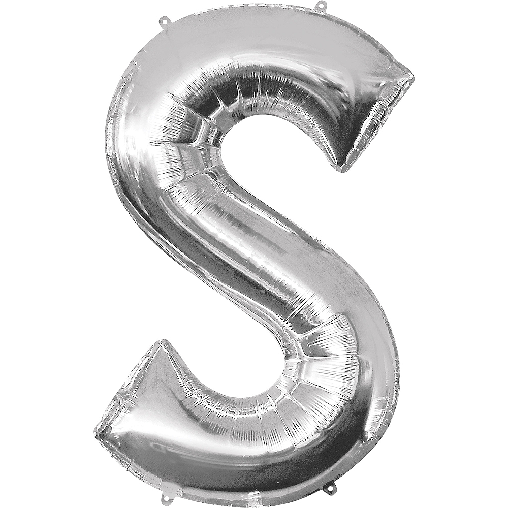 34in Silver Letter Balloon (S) Image #1