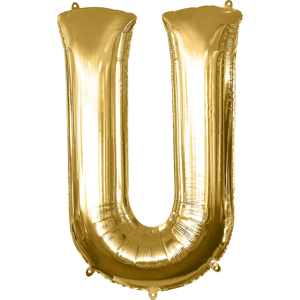 34in Gold Letter Balloon (U) Image #1