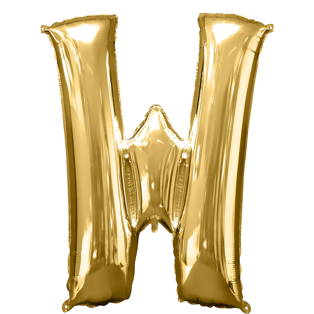 34in Gold Letter Balloon (W) Image #1
