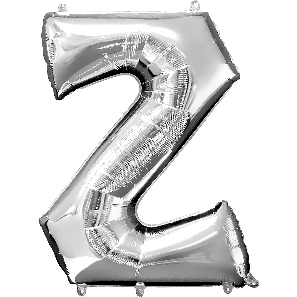 34in Silver Letter Balloon (Z) Image #1