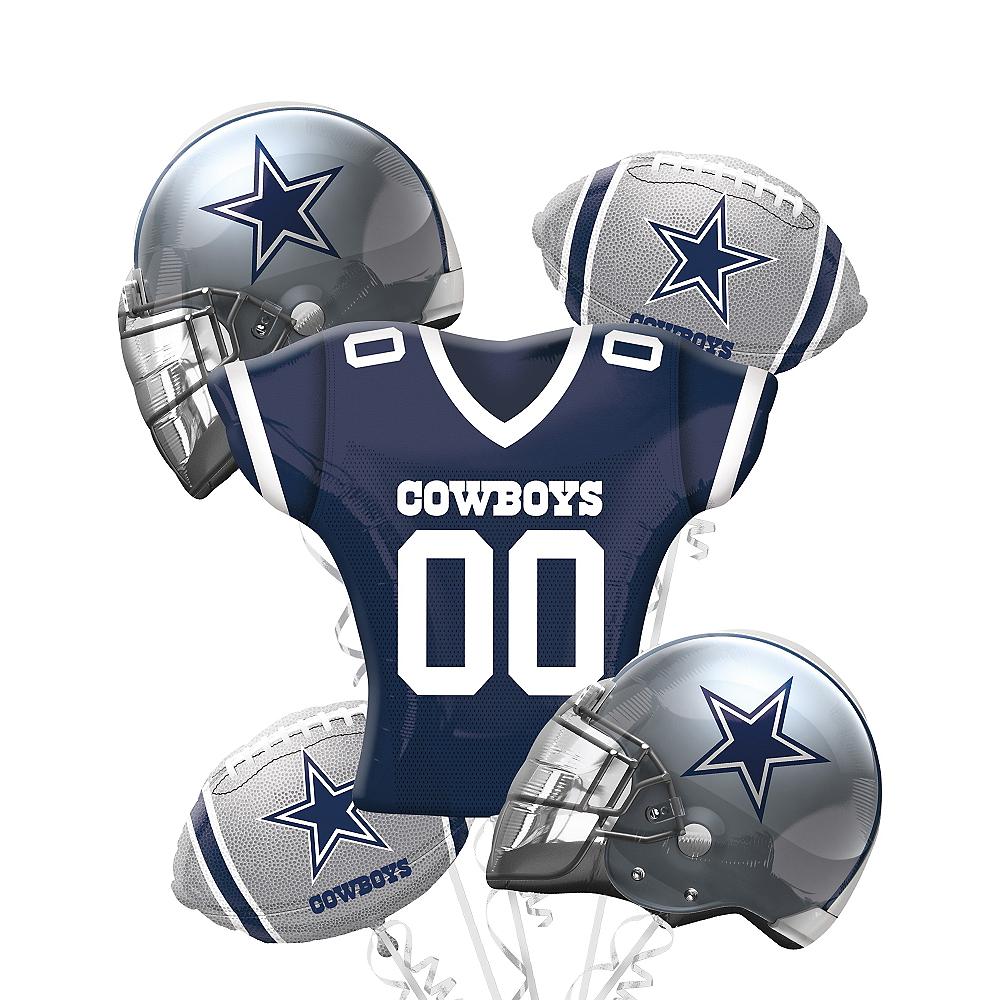 Dallas Cowboys Balloon Bouquet Deluxe 5pc Image #1