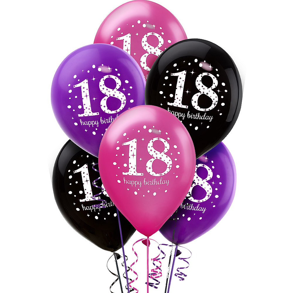 18th Birthday Balloons 6ct