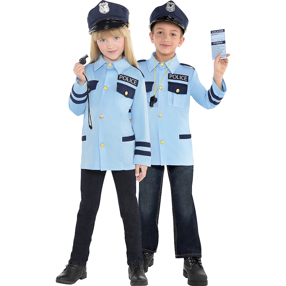 Child Traffic Cop Costume Image #1