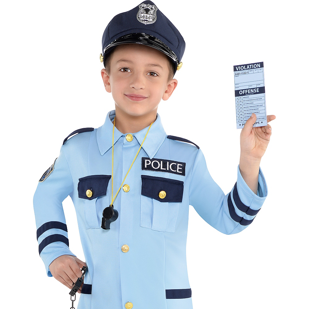 Child Traffic Cop Costume Image #4
