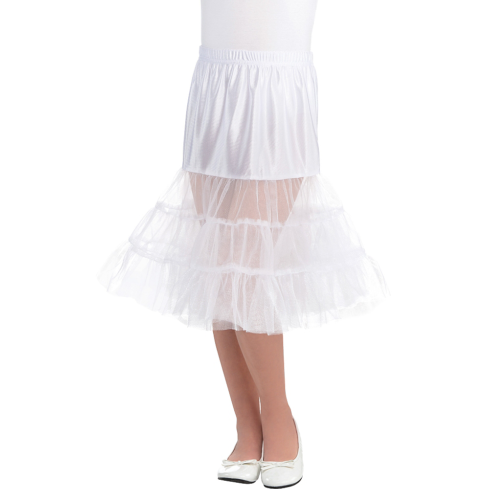 Child White Knee Length Petticoat Image #1
