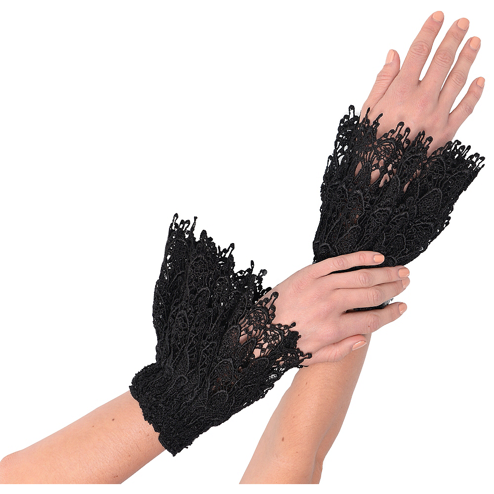 Black Lace Cuffs 2ct Image #1
