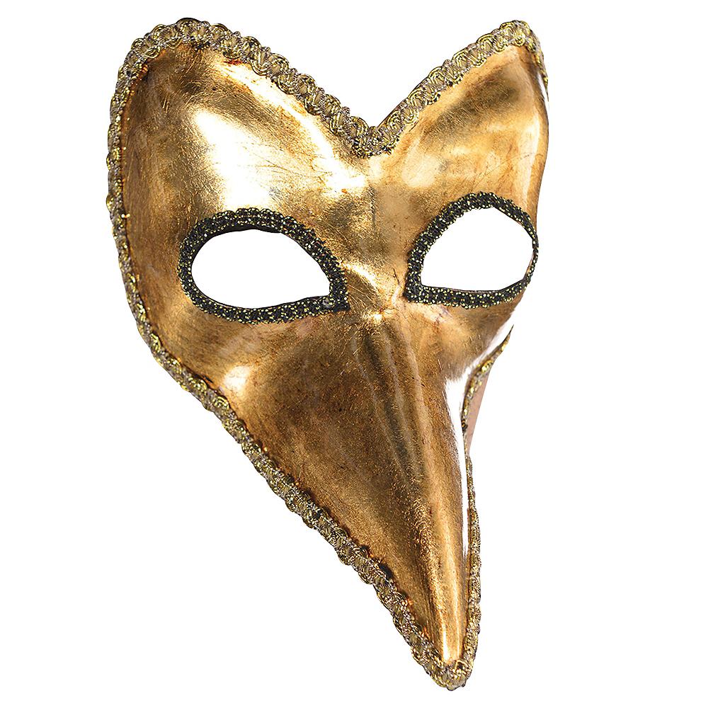 Gold Long Nose Mask Image #1