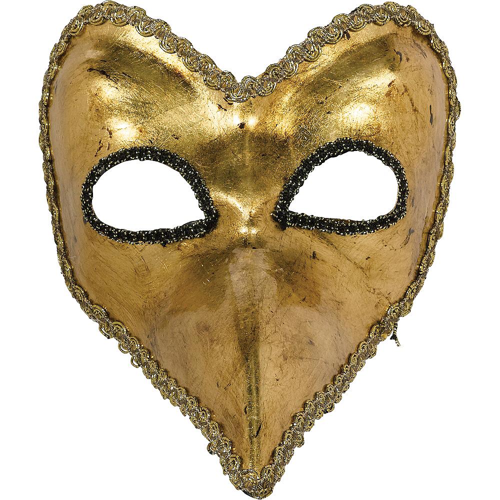 Gold Long Nose Mask Image #2