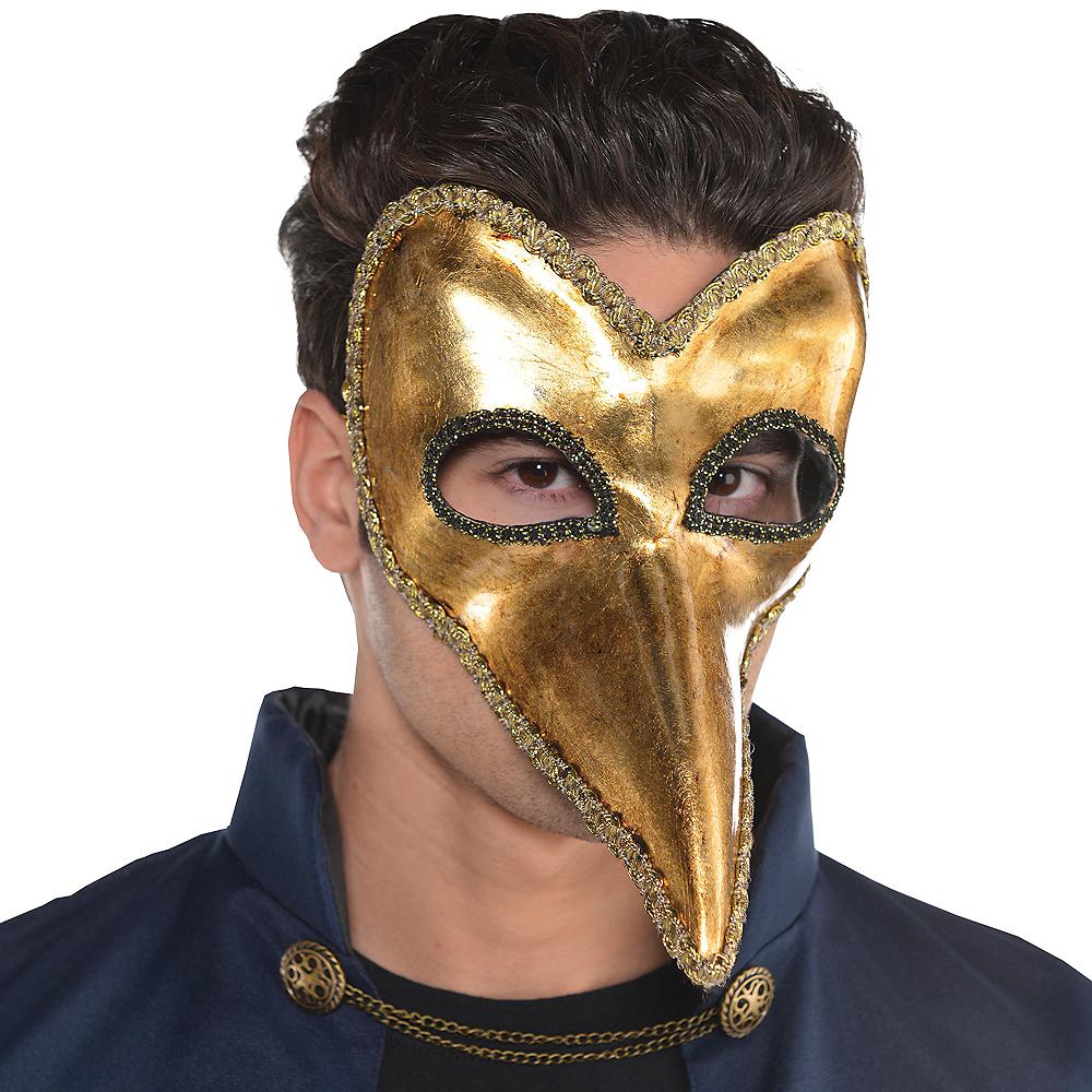 Gold Long Nose Mask Image #3