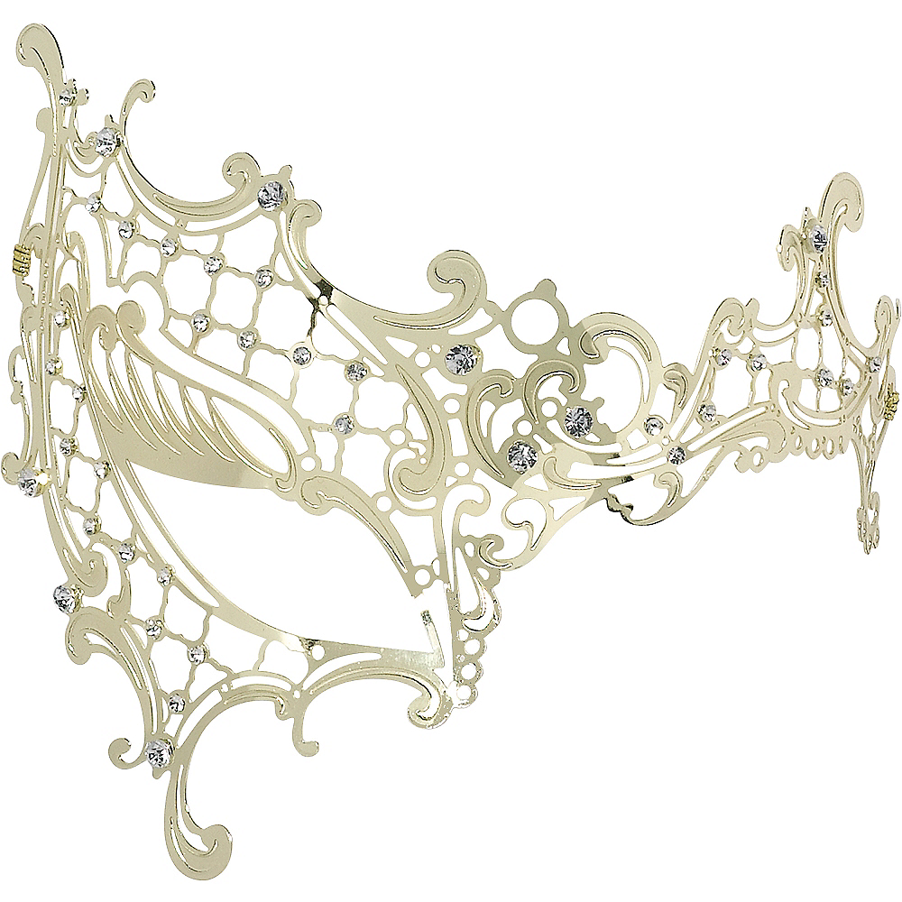 Gold Filigree Half Mask Image #1